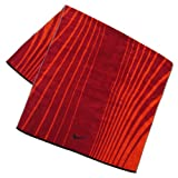 Nike Striped Jacquard Towel, Gym RED/Challenge RED/Midnight Navy, L