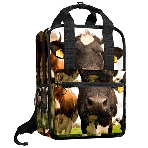 ATOMO Travel School Backpack Work Bag for Women&Men College Students livestock cow pattern