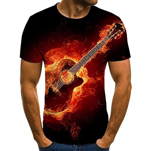 RITIOA 3D T Shirts 3D Druck Rundhals Kurzarm Shirt Lässig Lustig T Shirt Sommer Top Weich Bequem Oberteil Kleidung Bluse Mode Streetwear-T12-M