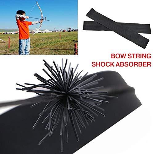 Chirsemey Absorberbogen Zubehör Bogenschießen Recurve Bow Shock Whisker Bowstring Schalldämpfer Rubber String Vibrationsdämpfer Für Shooting Arrow