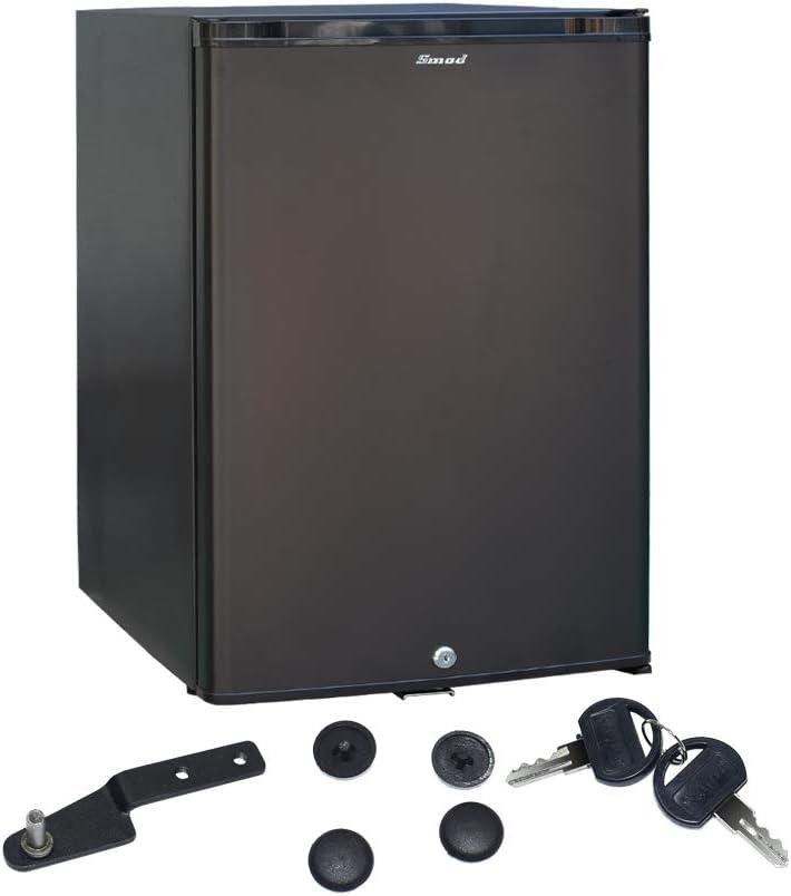 Smad 230V / 12V Refrigerador de Autocaravana con Cerradura, refrigerador silencioso de 2 vías para Furgoneta, Dormitorio, casa rodante de Ocio, ...