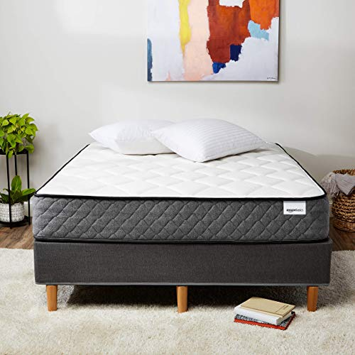 AmazonBasics Premium Hybrid Mattress - Medium Feel - Memory Foam - Motion...