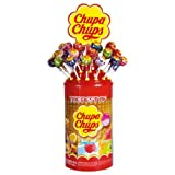 Chupa Chups Lollipops The Best of Cola, Milky & Fruit 100St. -