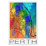 artboxONE Poster 60x40 cm Städte Retro Map Perth