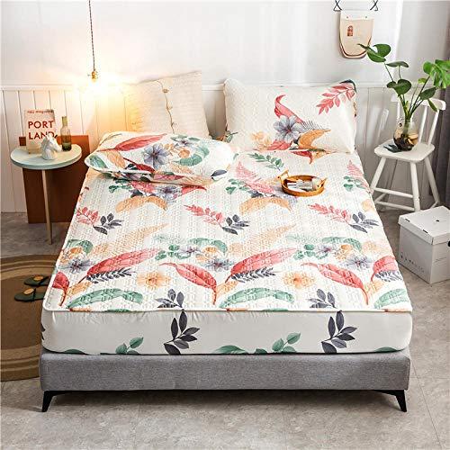 GTWOZNB Protector de colchón Acolchado - Microfibra - Funda para colchon estira hasta Impresión de sábanas Impermeable y transpirable-16_150 * 200cm