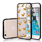 SunCases Soft TPU Bumper Case for iPhone 7 / iPhone 8 - Corgi Dog Pattern Hard Clear Transparent Anti Scratch Resistance with Full Protection Cover