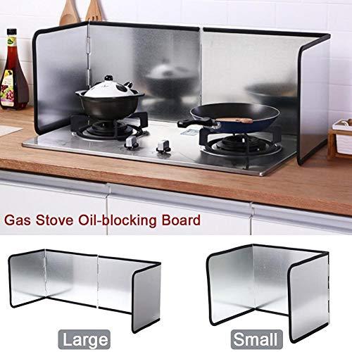 Anti-Spritzschutz, Öl-Spritzschutz, 3-seitig faltbarer Antihaft-Spritzschutz, Anti-Spritzschutz, Öl-Gasherd-Prallblech zum Schutz von Wänden und Böden in der Küche