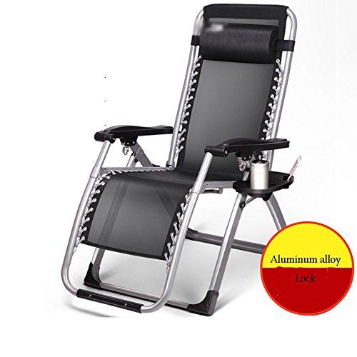 YNN Fauteuils pliants Chaise Pliante Déjeuner Siesta Chaise de Bureau Chaise de Loisirs Chaise de Salon Chaise de Balcon de Plage (Couleur : A)