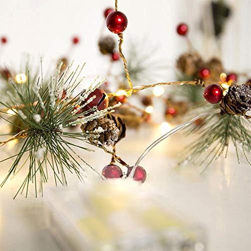 Weihnachtsbeleuchtung Lichter Lichter Weihnachtsbeleuchtung Kupfer Cone Cone Pine String Lichter für Weihnachtsbaum und Home Halloween Hochzeit Dekoration