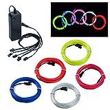 Covvy Wasserdicht Flexibel 5 * 1Meter Neon Beleuchtung Lichtschlauch Leuchtschnur EL Kabel Wire mit...