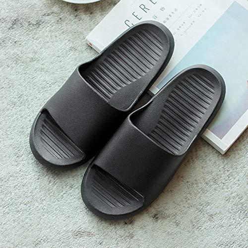QQRR Chanclas de baño para la playa, para interiores, cómodas, de plástico, color negro, talla 40-41, con suela de goma antideslizante