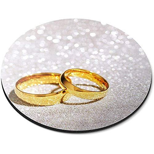 Ronde Muis Mat - Cool Goud Bruiloft Ringen Verloofde Vrouw Kantoor Gift