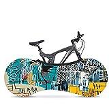Funda Bicicleta Resistente para Interiores- Cubierta para Mantener Suelos y Paredes Libres de Suciedad- Funda Bici Diseño Grafiti Moderno