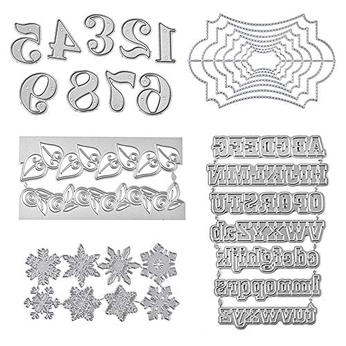 5 Conjunto, Corte Plantillas moldes Troqueles de Corte Letras Grandes números de...