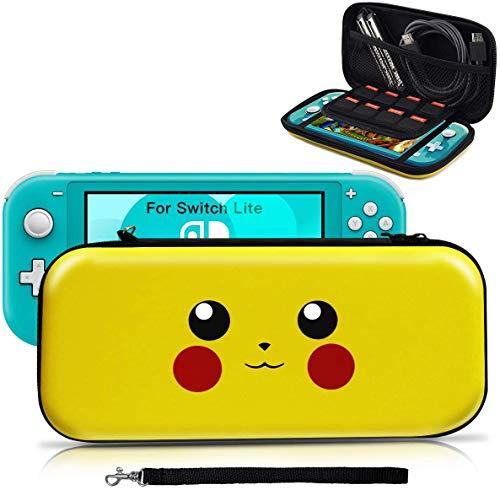 Housse pour Switch Lite, Pochette Anti-choc Désigné pour Pokémon Lets' go Pikachu/Eevee, Etui Portable Sacoche de Transport pour Switch Lite Accessoire - Pikachu