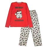 Star Wars Feliz Navidad Sithmas Pijamas Set Larga de los Hombres Rojo/Gris Brezo M | S-XXXL, Padres Regalos de cumpleaños, día para Hombre del Pijama, Idea del Regalo para los Hombres