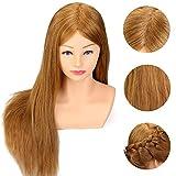 Tfmox Maniquíes De Aprendizaje 24'Maniquí de cabello humano real Cabeza y...