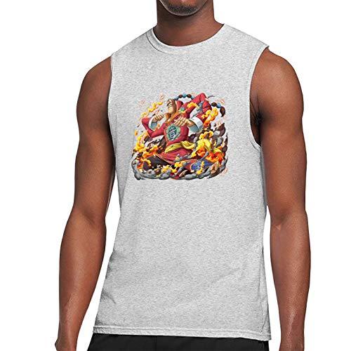 Vdaras Camiseta para hombre, sin mangas, Apoo AKA Roar O-N-E-Piece