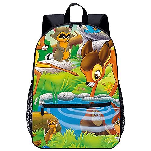 KKASD mochila Bambi Feline, Arnold Mochila escolar bellamente estampada impresa en 3D, mochila escolar ergonómica de gran capacidad, multifuncional