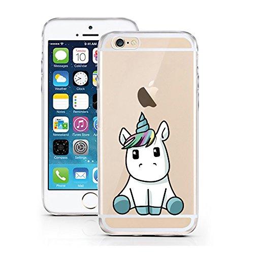 licaso Handyhülle für iPhone 7 und 8 aus TPU mit Baby Einhorn Print Design Schutz Hülle Protector...
