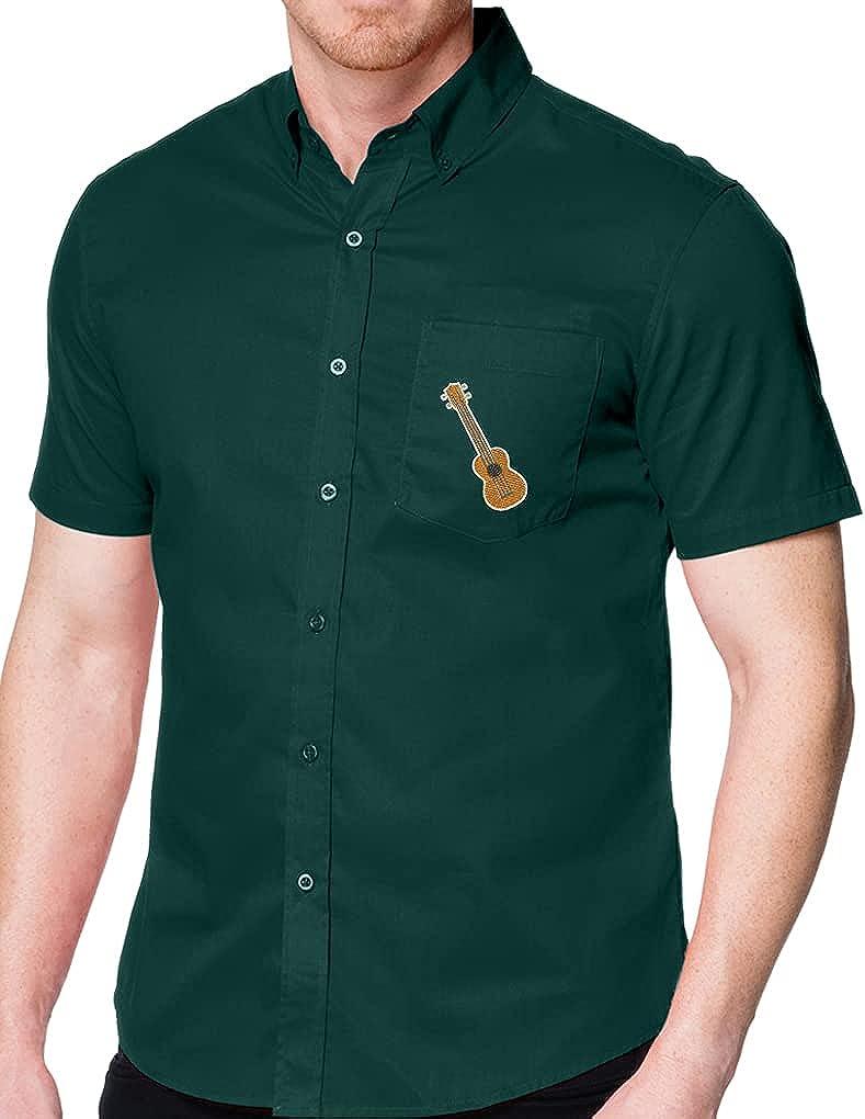 Buy Cool Shirts Ukulele UKE Patch Shirt with Pocket - Regular, Big and Tall Sizes