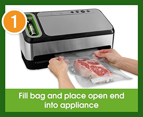 FoodSaver V4840 2-in-1 Vacuum Sealer Machine with Automatic Bag Detection and Starter Kit   Safety Certified   Silver