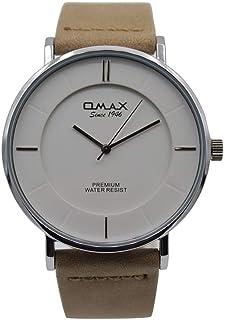 ساعة يد رجاليةمن اوماكس ، انالوج بعقارب ، فضي