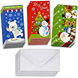 36 Christmas Gift Card Holder Christmas Money Holder Christmas Greeting Cards with Envelopes Bulk Assorted in 3 Holiday Cute Festive Designs with Hot Stamped Foil Winter Holiday Cards Box Set