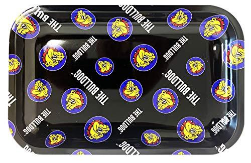 The Bulldog Amsterdam - Vassoio in metallo con logo multistrato, misura piccola, 18 x 12,5 cm, colore: Nero