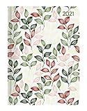 Minitimer Style Blätter 2021 - Taschen-Kalender A6 - Weekly - 192 Seiten - Notiz-Buch - mit Info- und Adressteil - Alpha Edition