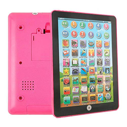 Pink/Blue Baby Laptop Tablet Computer Educational Learning Tool for Children Toys (Pink)