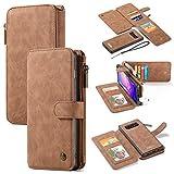 For Samsung S10 portefeuille cas, le meilleur cuir porte-carte mince bande magnétique support à...