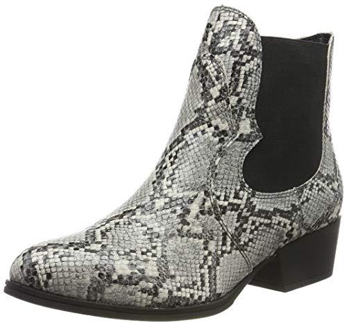 Tamaris Damen Stiefeletten Grau/Snake, Schuhgröße:EUR 40