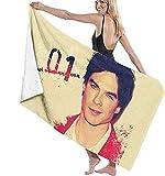QWAS Toallas de playa de The Vampire Diaries, muy prácticas y absorbentes, ideales para la playa (A04,80 cm x 130 cm)
