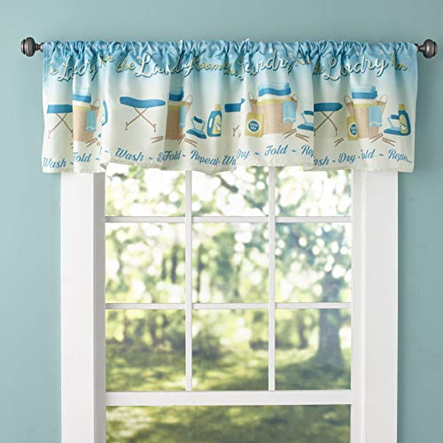 The Lakeside Collection Decorative Window Curtain Valance – Laundry Room