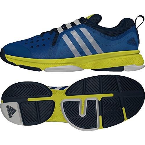 adidas Herren Barricade Classic Tennisschuhe, Blau (Blue/White/Yellow Blue/White/Yellow), 44 EU