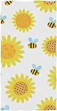 Tracy Joseph Toallas de Mano Suaves, Flores de Abejas Amarillas Toallas de Mano Altamente absorbentes para baño, Manos, Cara, Gimnasio