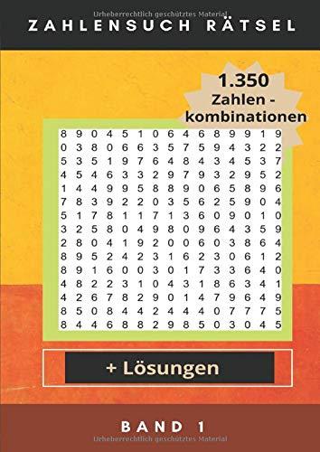 Zahlensuch Rätsel: MP Band 1 | 1.350 Zahlenkombinationen im Zahlenraster versteckt | mit Lösungen | Gehirnjogging | Das perfekte Gehirntraining für Groß und Klein