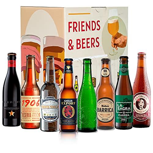 Pack de cervezas degustación - Caja Cerveza Premium España: Inedit, Santa Monica, Alhambra, La Virgen, La Sagra, Ambar, Estrella galicia 1906. I Mejores cervezas españolas para regalar y disfrutar.