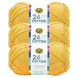 (3 Pack) 24/7 Cotton Yarn, Creamsicle