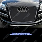 APS Compatible with 2007-2015 Q7 Stainless Steel Black Mesh Grille Grill Insert N19-H73557B