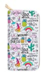 Drama Queen Wallet for Women - Multi-Purpose Designer Travel Wallet with Unicorn Rainbow & Animal Print - Multi-pocket Long Hand Purse for Kids & Teen Girls