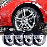 wangjianbin 4 Pcs 56mm Car Styling Car Tire Wheel Hub Hub Cap Decal Badge Sticker Accesorios para Dacia Lodgy Sandero Mk2 Duster Stepway 2017