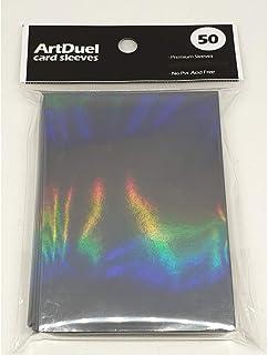 ArtDuel Pokemon Card Sleeves MTG Deck Protector Standard Size Shield - Rainbow Effects Holographic Matte Black
