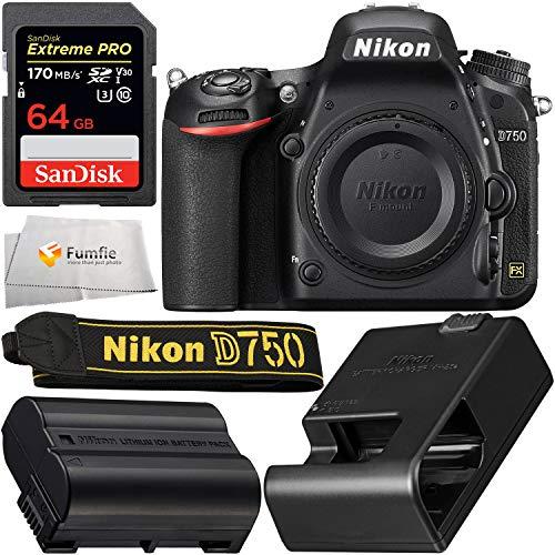 Nikon D750 DSLR Camera: Includes Promotional SanDisk Extreme PRO 64GB SDXC Memory...