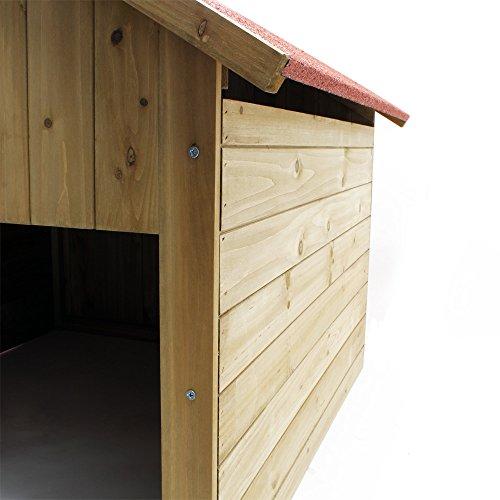 Wiltec Garage für Mährobotor aus Holz für alle gängigen Rasenroboter - 4