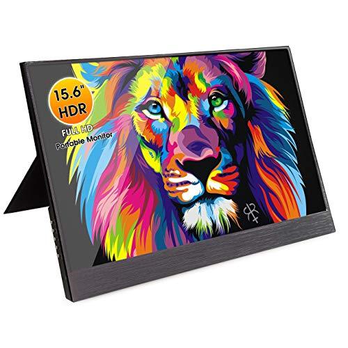 Portable Monitor for Laptop,NIUTO 15.6 Inch Full HD 1920×1080 Ultra-Slim IPS USB C Computer Display...