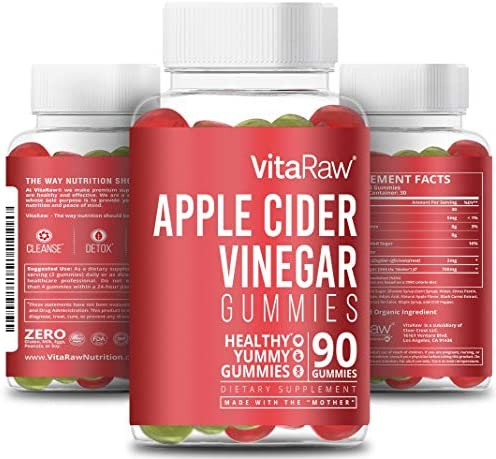 Organic Apple Cider Vinegar Gummies with Mother Raw Gluten Free ACV Great Alternative for Apple product image