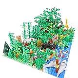 Bosque Botánico tropical con placas de construcción, 688 piezas personalizadas, juego de construcción, compatible con Lego Bauer