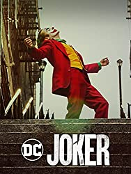 JOKER film poster/DVD cover, ft. Joaquin Phoenix in clown make-up with green hair